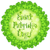 Cartão do dia do St. Patricks Foto de Stock