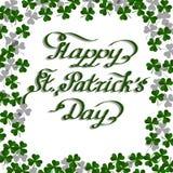Cartão do dia do St Patricks ilustração do vetor