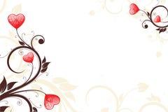 Cartão do dia do Valentim Foto de Stock