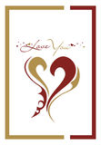 Cartão do dia do Valentim Fotos de Stock