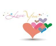 Cartão do dia do Valentim ilustração royalty free