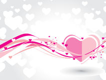 Cartão do dia do Valentim Fotografia de Stock