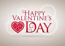 Cartão do dia do Valentim Imagens de Stock