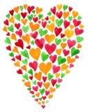Cartão do dia do Valentim Fotografia de Stock Royalty Free