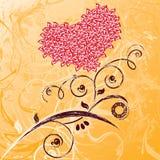 Cartão do dia do Valentim. Foto de Stock Royalty Free