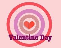 Cartão do dia do Valentim Ilustração do Vetor
