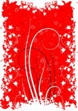 Cartão do dia do Valentim com coração das flores no backg do grunge Foto de Stock