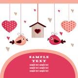 Cartão do dia do Valentim com lugar para seu texto, Fotografia de Stock Royalty Free