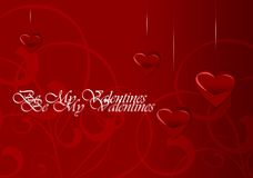 Cartão do dia do Valentim elegante ilustração stock