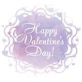 Cartão do dia do Valentim feliz Fotos de Stock