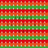 Cartão do dia do Valentim feliz Teste padrão brilhante feito de cor alaranjados, vermelhos e verdes Imagem de Stock Royalty Free