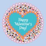 Cartão do dia do Valentim feliz Vetor Imagens de Stock