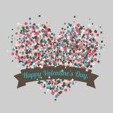 Cartão do dia do Valentim feliz Vetor Foto de Stock Royalty Free