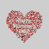 Cartão do dia do Valentim feliz Vetor Imagem de Stock