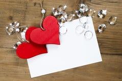 Cartão do dia do Valentim ou de mãe, carta de amor com espaço para o texto Fotografia de Stock