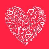 Cartão do dia dos Valentim Imagens de Stock Royalty Free