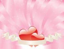 Cartão do dia dos Valentim Fotografia de Stock