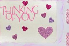 Cartão do dia dos Valentim Fotos de Stock Royalty Free