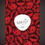 Cartão do dia dos Valentim Fotos de Stock