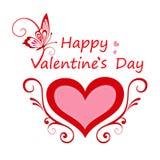 Cartão do dia dos Valentim Ilustração Royalty Free