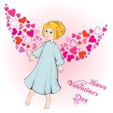 Cartão do dia dos Valentim Ilustração do Vetor