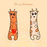 Cartão do dia dos Valentim Foto de Stock Royalty Free