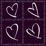 Cartão do dia dos Valentim Imagem de Stock