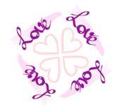 Cartão do dia dos Valentim Conceito do amor Foto de Stock Royalty Free