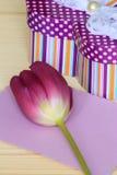 Cartão do dia dos Valentim ou de matrizes - foto conservada em estoque Fotografia de Stock Royalty Free