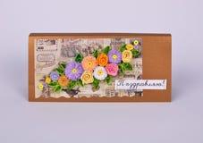 Cartão do dia do ` s da mãe com flores Imagens de Stock Royalty Free