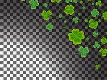 Cartão do dia do ` s de St Patrick com pasto verde sparkled do trevo ilustração do vetor