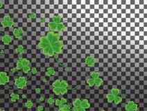 Cartão do dia do ` s de St Patrick com pasto verde sparkled do trevo ilustração stock