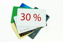 Cartão do disconto no fundo branco Imagens de Stock