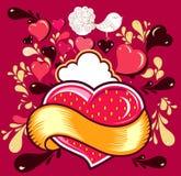 Cartão do divertimento com coração Foto de Stock Royalty Free