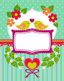 Cartão do elefante do bebê Fotografia de Stock Royalty Free