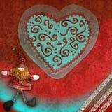 Cartão do espírito do Natal Imagem de Stock