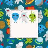 Cartão do espaço dos desenhos animados Imagem de Stock