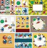 Cartão do espaço dos desenhos animados ilustração stock
