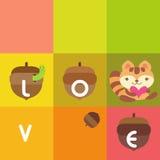 Cartão do esquilo fotografia de stock royalty free