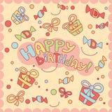 Cartão do feliz aniversario Imagens de Stock