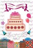 Cartão do feliz aniversario. Imagem de Stock