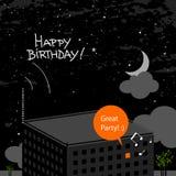 Cartão do feliz aniversario Fotografia de Stock