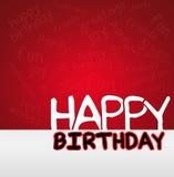 Cartão do feliz aniversario ilustração stock