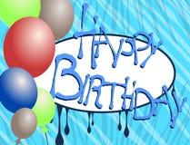 Cartão do feliz aniversario Foto de Stock