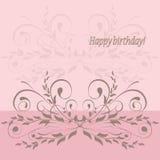 Cartão do feliz aniversario Imagem de Stock Royalty Free