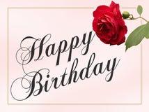 Cartão do feliz aniversario Fotografia de Stock Royalty Free