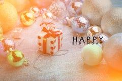 Cartão do feliz aniversario Fotos de Stock