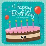 Cartão do feliz aniversario ilustração do vetor