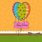 Cartão do feliz aniversario com balões. Fotografia de Stock Royalty Free