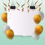 Cartão do feliz aniversario com sinal vazio Fotos de Stock